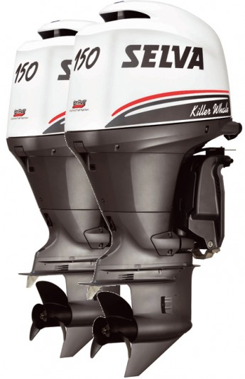 Лодочный мотор Selva Killer Whale 2 x 150 E.F.I.